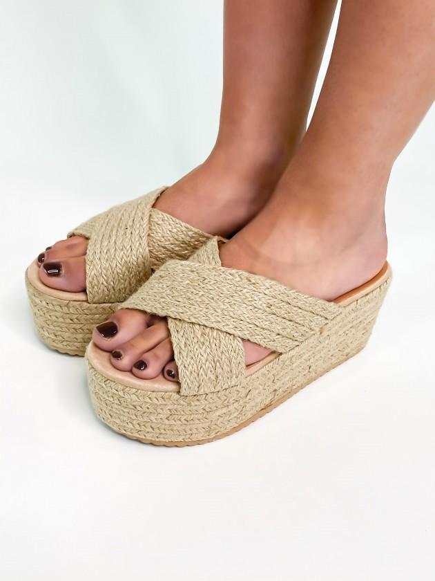 Sandalia de Yute Cruzada