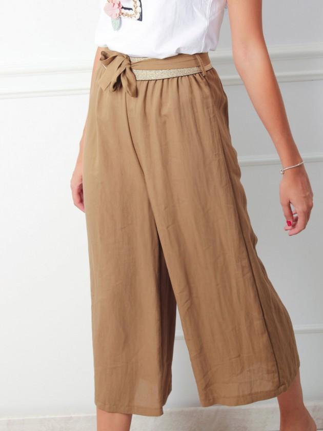 Pantalón Cullote Marrón