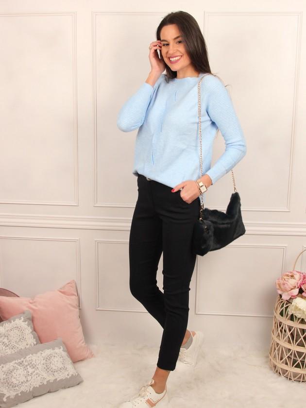 Pantalón elastico Azul
