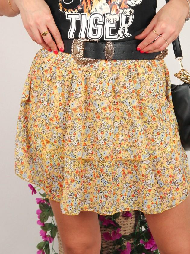 Falda flores amarilla