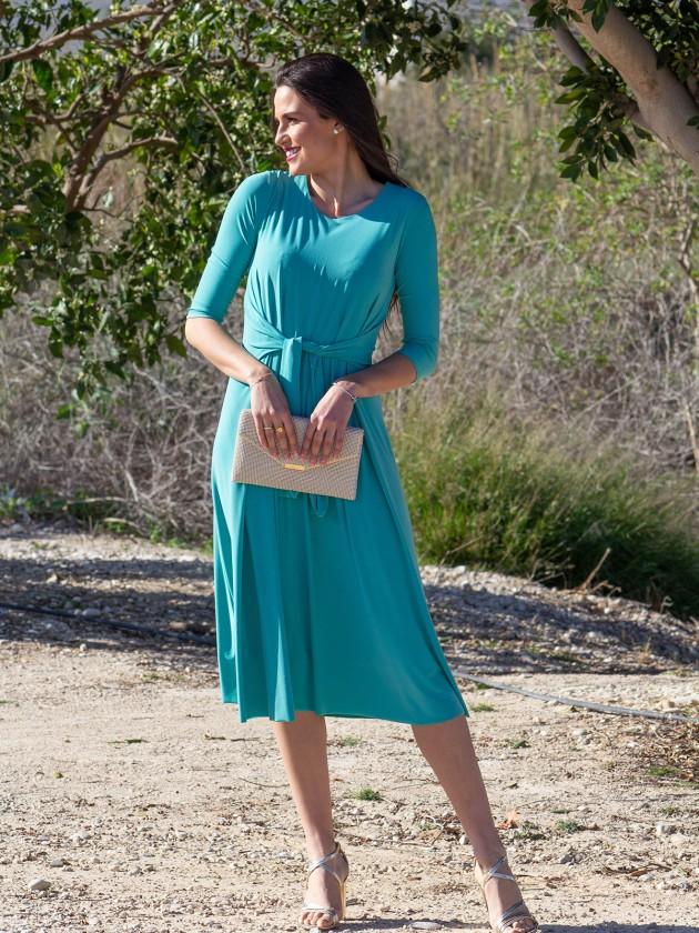 Vestido invitada verde