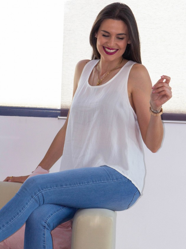 Blusa Lazada Blanca