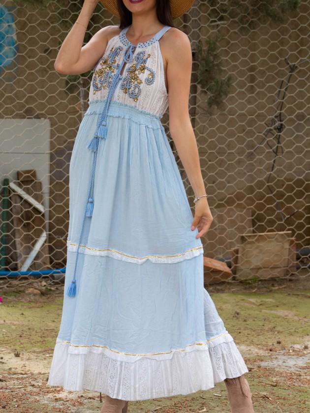 Vestido Boho Azul predreria