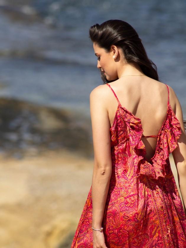 Vestido Marcela Fucsia