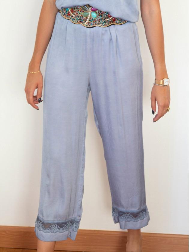 Pantalón Bruna Azul Claro