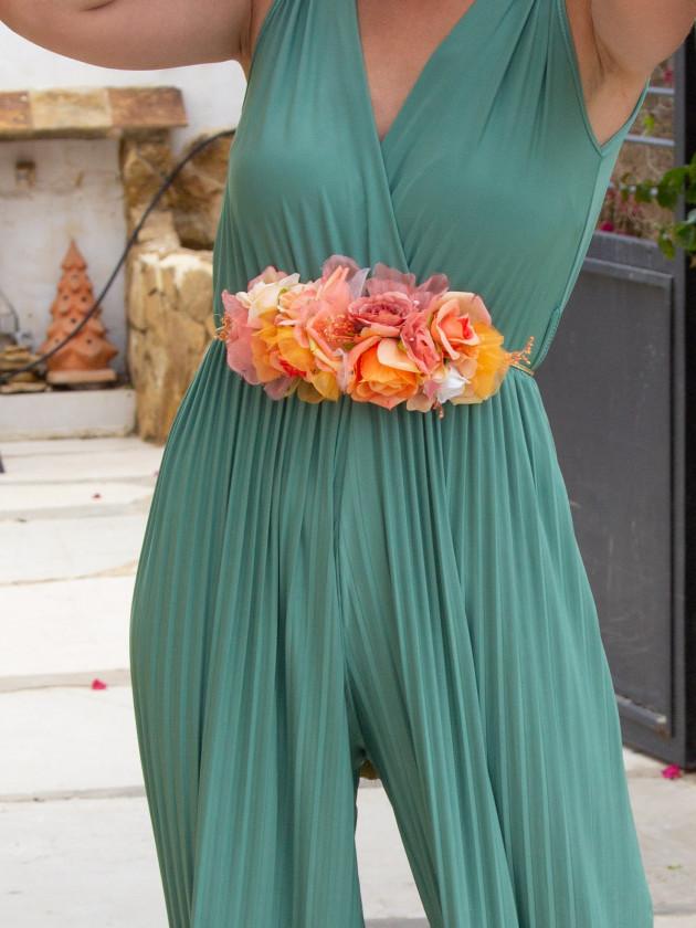 Cinturón Naranja Flores