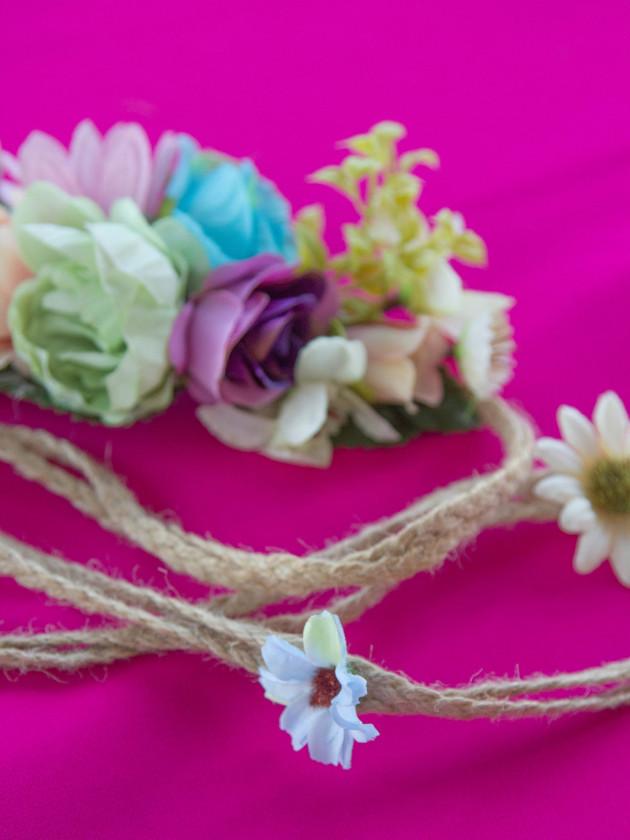 Cinturón Flores Azul
