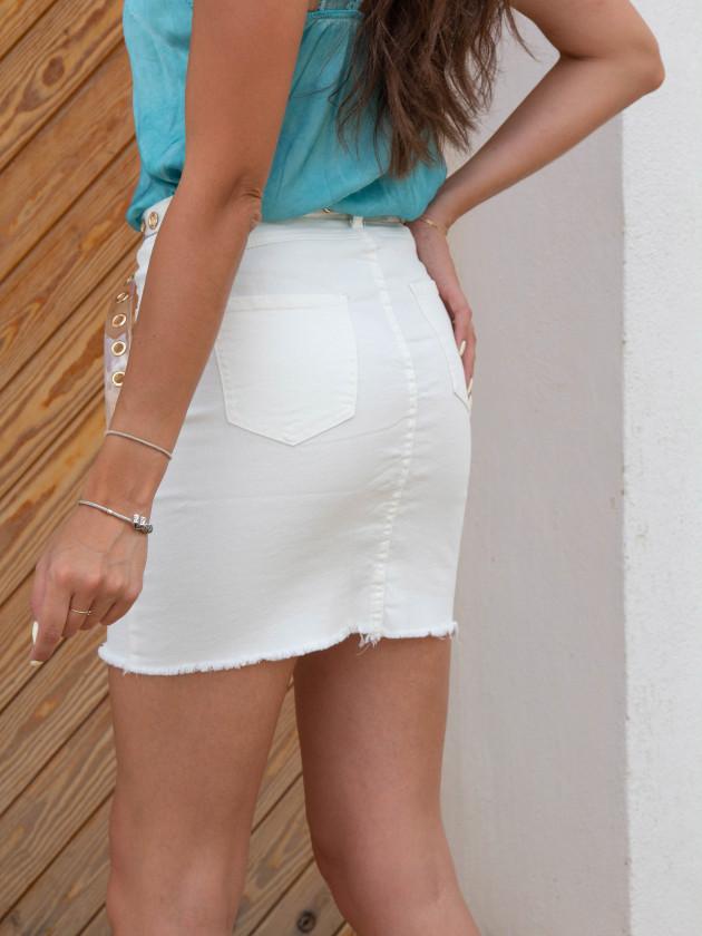 Falda Blanca Vaquera