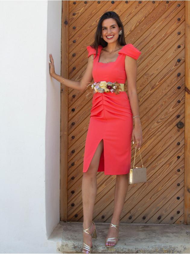 Vestido Alma Coral