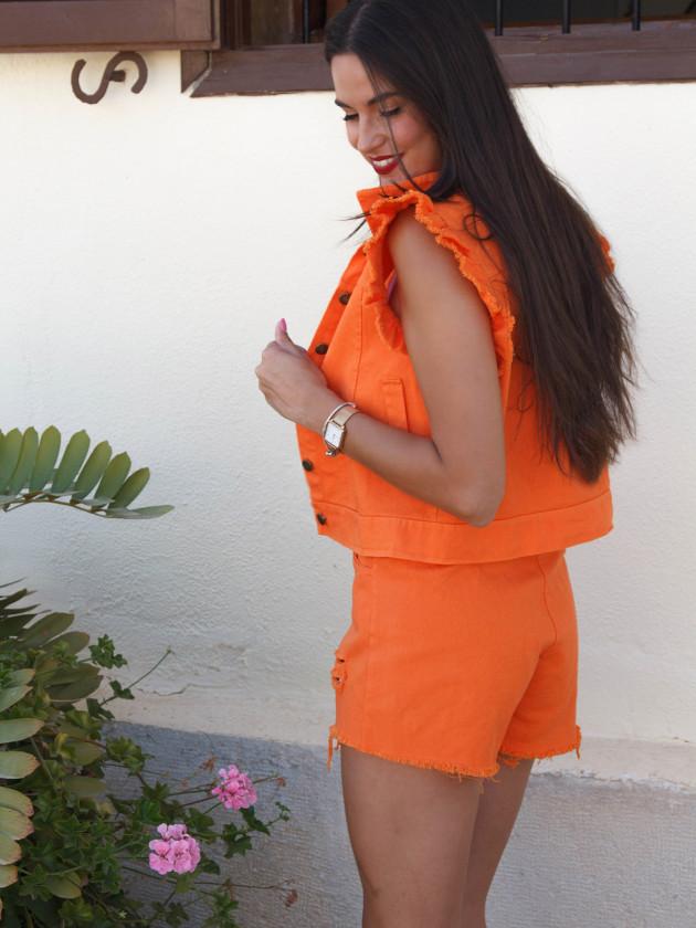 Conjunto Denim Naranja