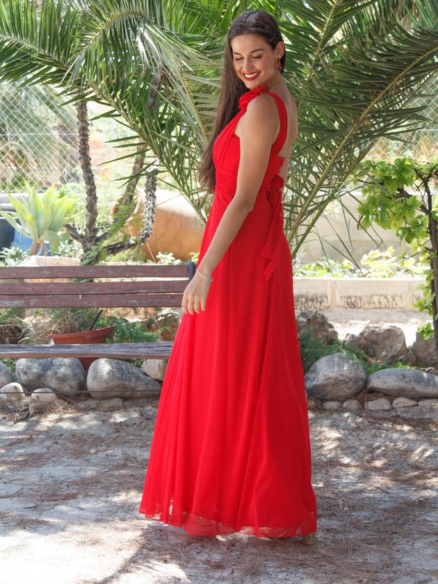 Vestido Ares Largo Rojo