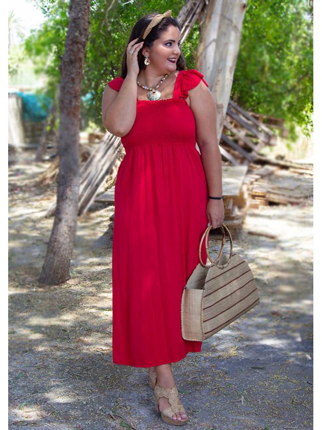 Vestido Rojo Algodón