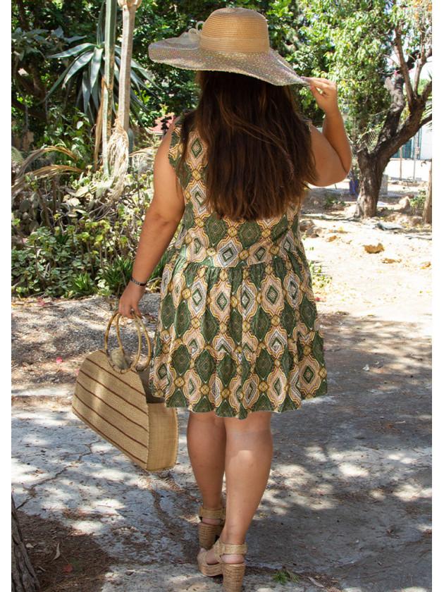 Vestido Rombos Verde