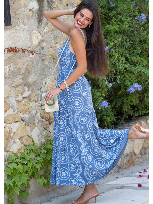Vestido Doris Azul