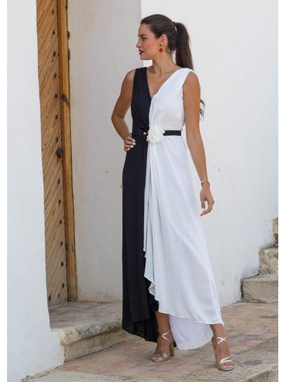 Vestido Bicolor largo