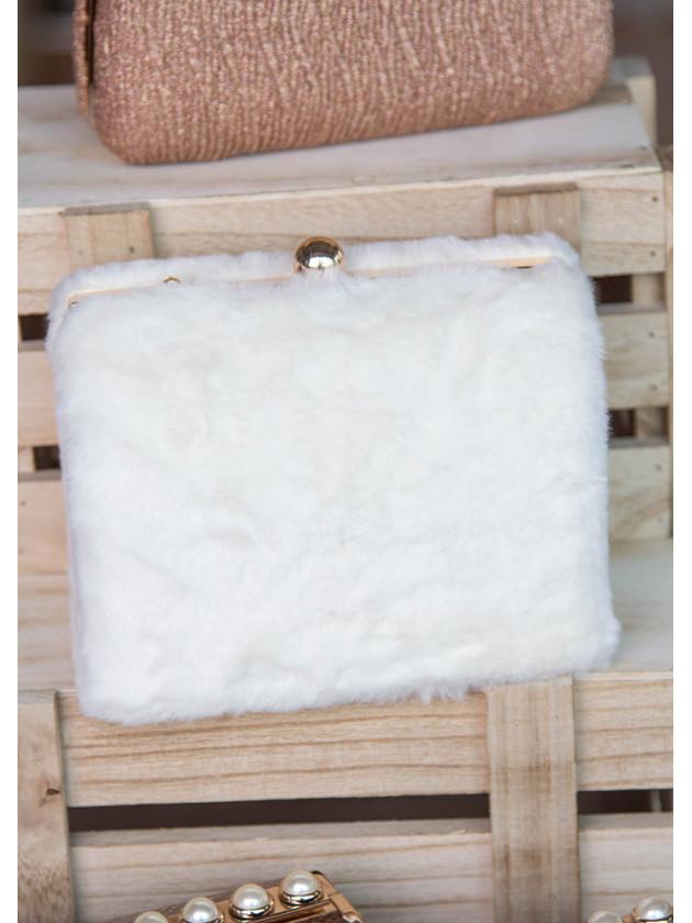 Clutch Pelo Blanco
