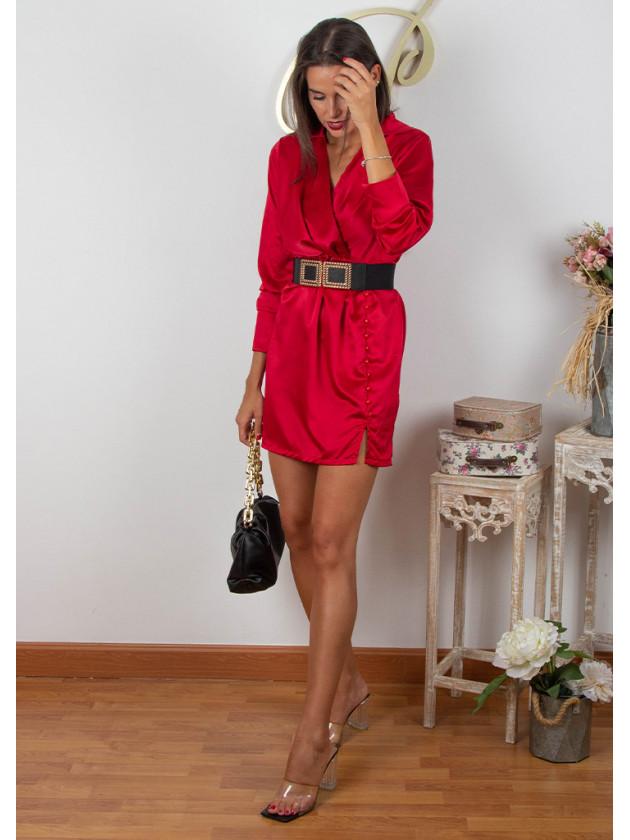 Vestido Satinado 3 Colores