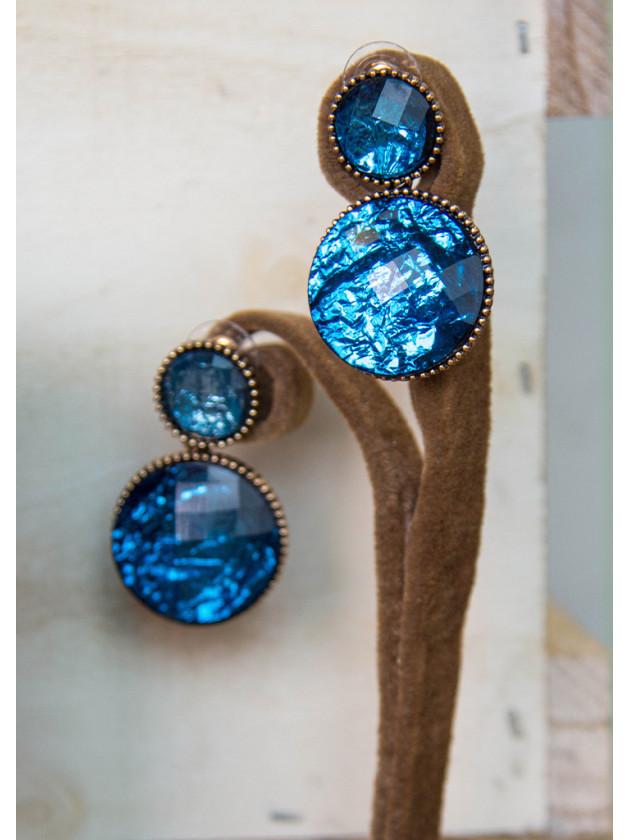 Pendiente Piedra Azul