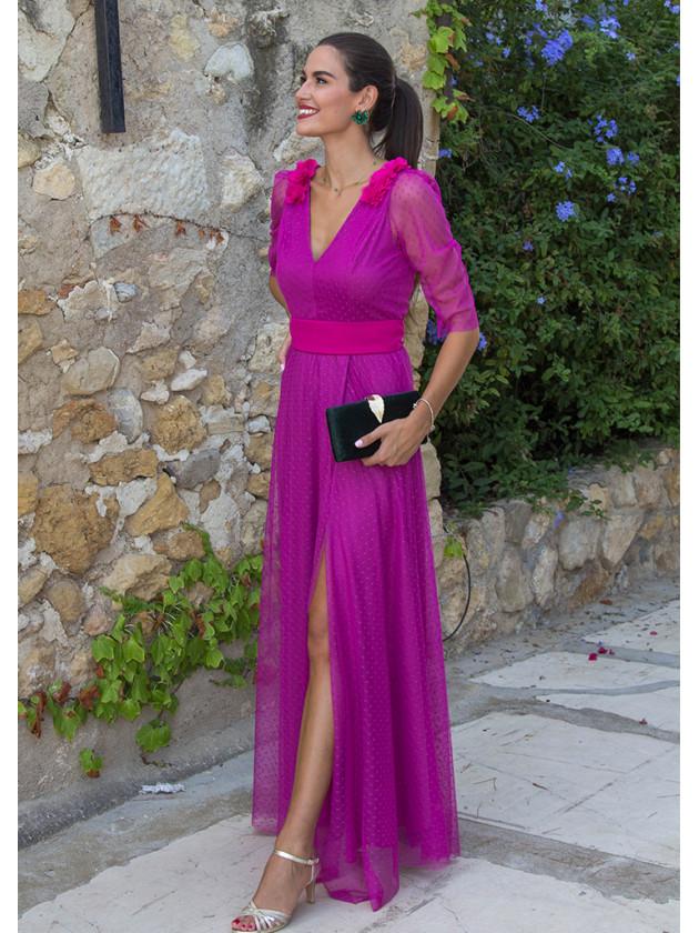 Vestido popelin rosa