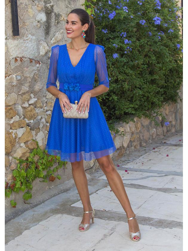 Vestido popelín azul