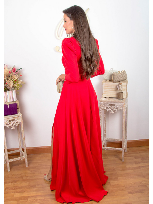 Vestido Azucena Rojo
