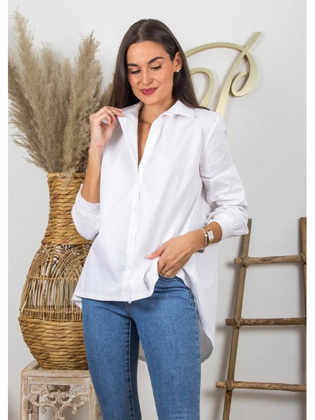 Camisa Asimétrica Blanca
